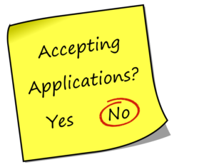 Accepting Applications - No - Red